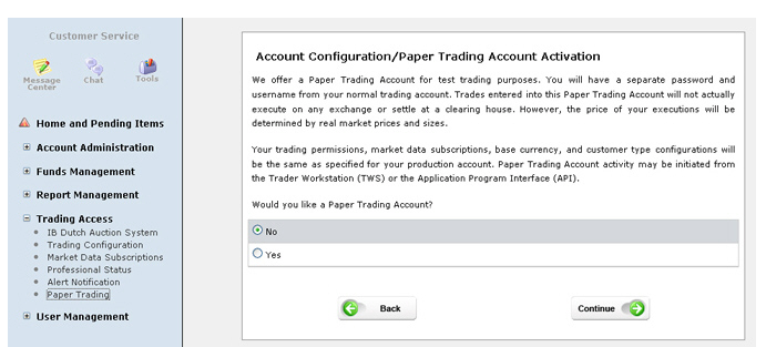 Forex paper trade account