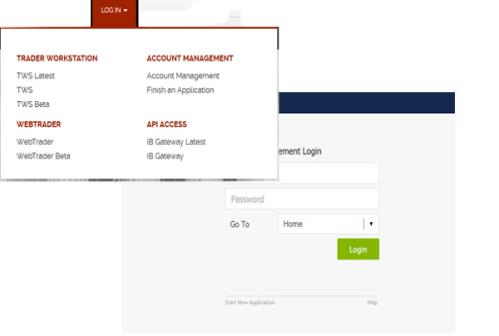 Log In to Account Management