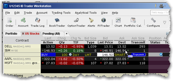 Trade and allocate for funds imagine now that i click the ask price in the ibm ticker line an order to buy 100 shares of ibm stock is created directly below the ticker and the column ccuart Image collections
