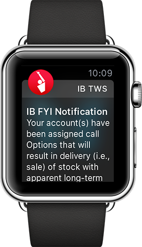 Interactive Brokers Apple Watch App