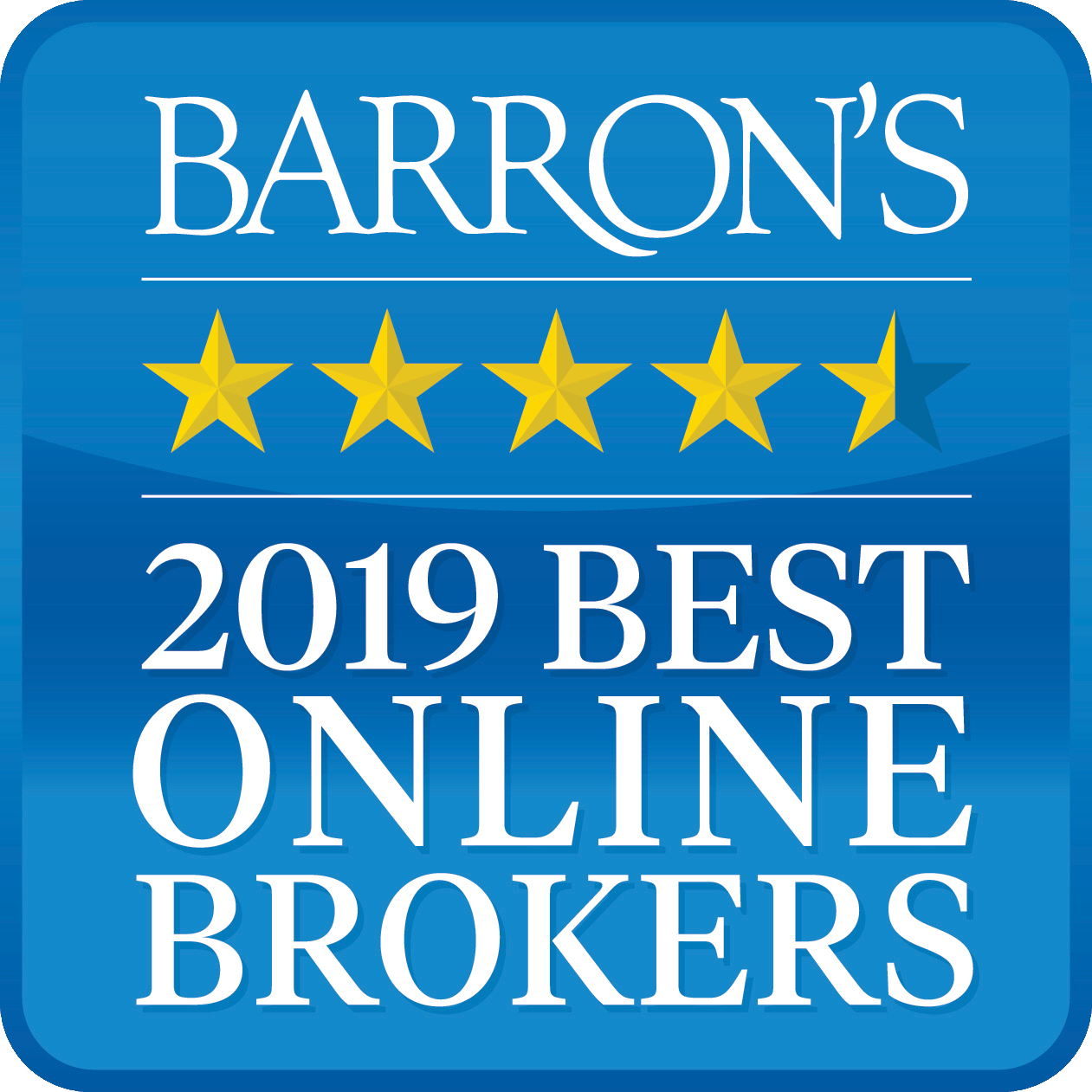 Interactive Brokers was Rated #1 - Best Online Broker - 2019 by Barron's