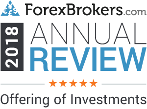 ForexBrokers.com 5 out of 5 Stars for Offering of Investment