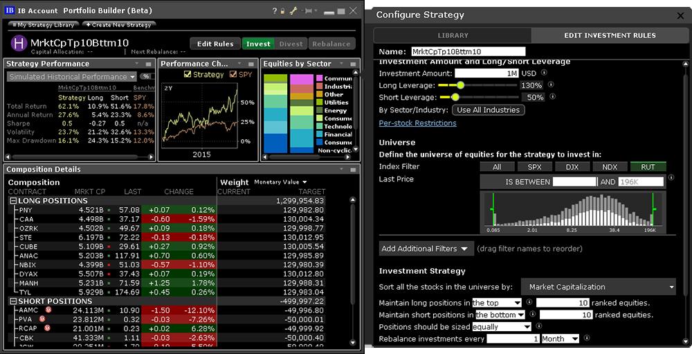 Portfolio Builder   Interactive Brokers