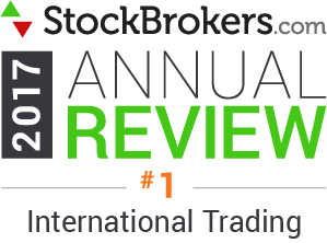 Avis Interactive Brokers: 2017 Stockbrokers.com Awards - Meilleur trading international Trading