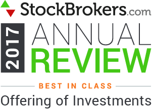 Interactive Brokers reviews: 2017 Stockbrokers.com Awards - Best in Class - Offre d'investissements