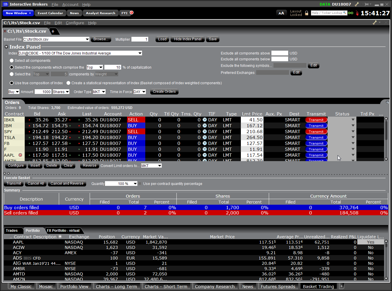 TWS Workspace Layout Library | Interactive Brokers