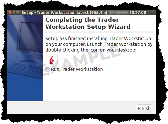 Installation de TWS pour Linux Screen