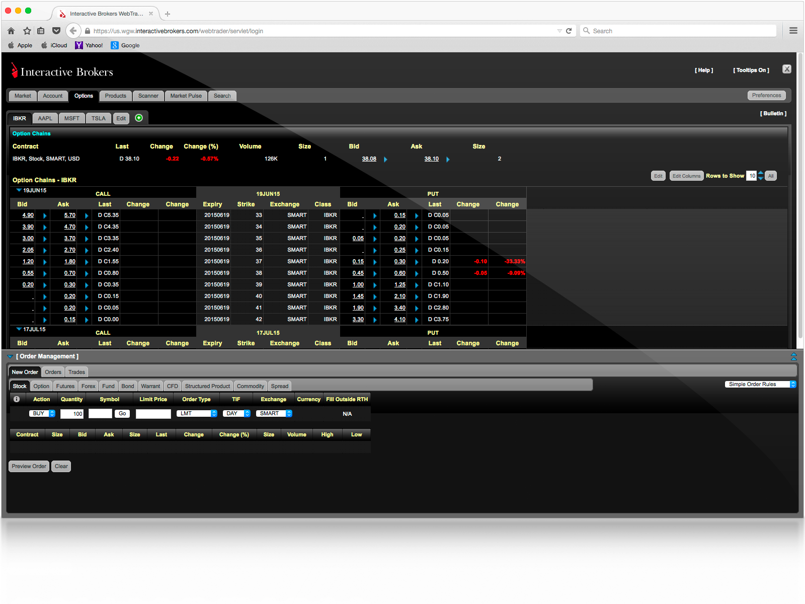Exercise options interactive brokers