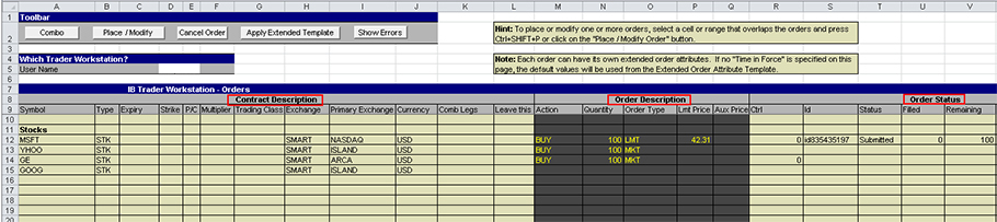 Getting Started with the TWS DDE for Excel API Webinar Notes