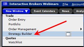 Interactive brokers option strategy builder