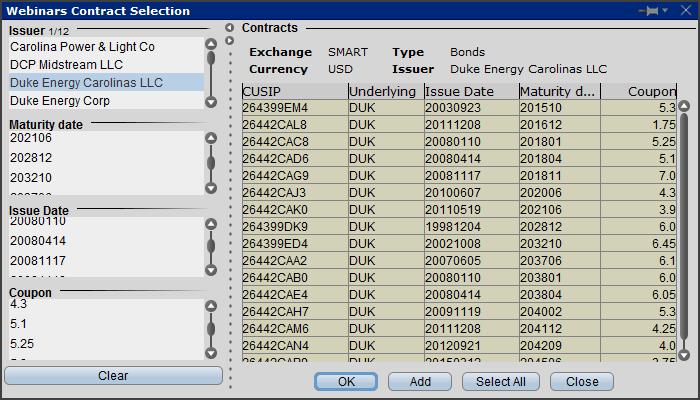 Global Bond Trading Webinar Notes Interactive Brokers