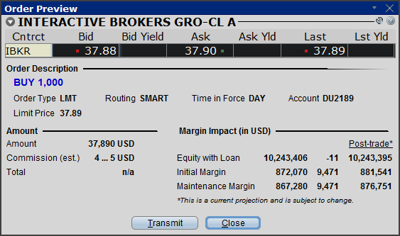 Interactive brokers real time data