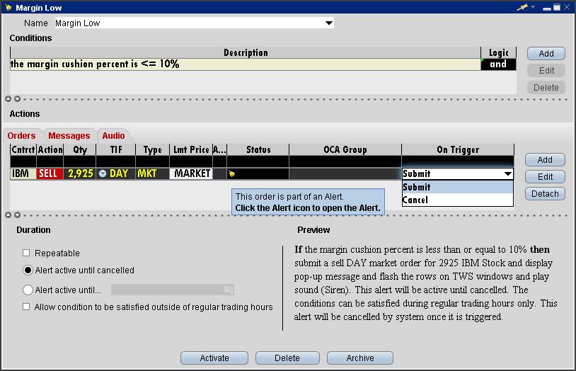 Ib trading system