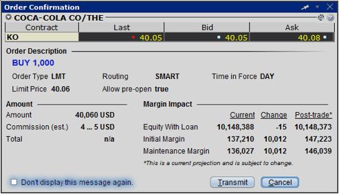 Reduce margin option trades