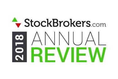 2018年度アワード - Stockbrokers.com - 総合評価にて最高点の評価