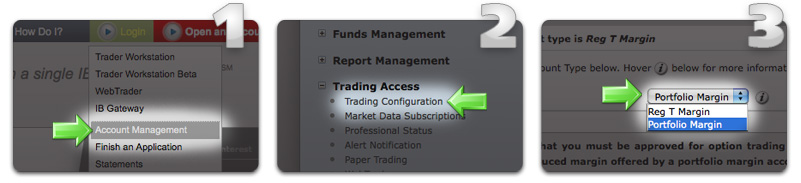 How to select Portfolio Margin from the Account Type drop down menu